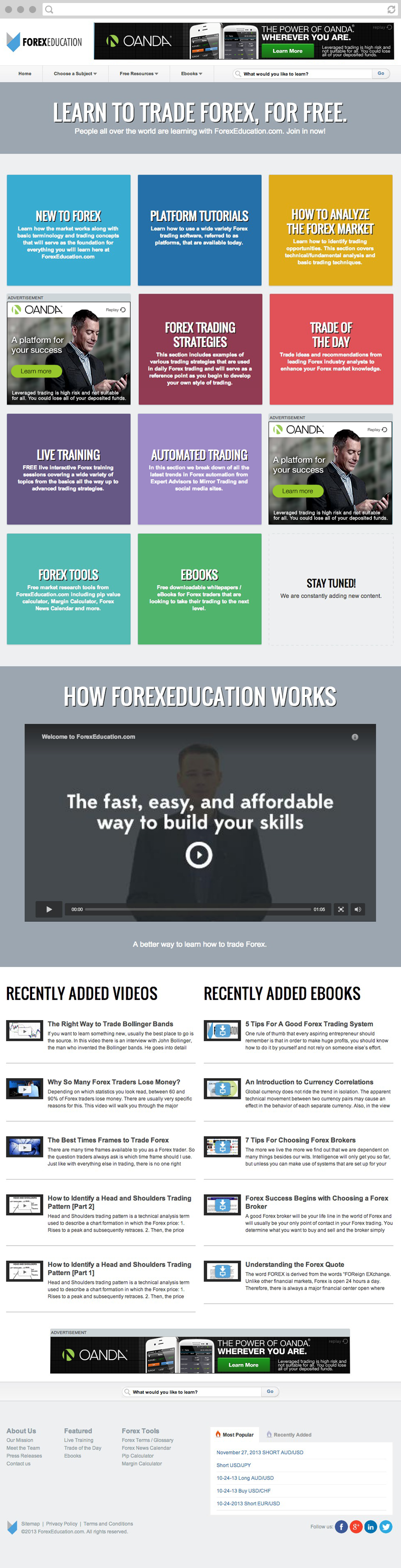 ForexEducation Homepage
